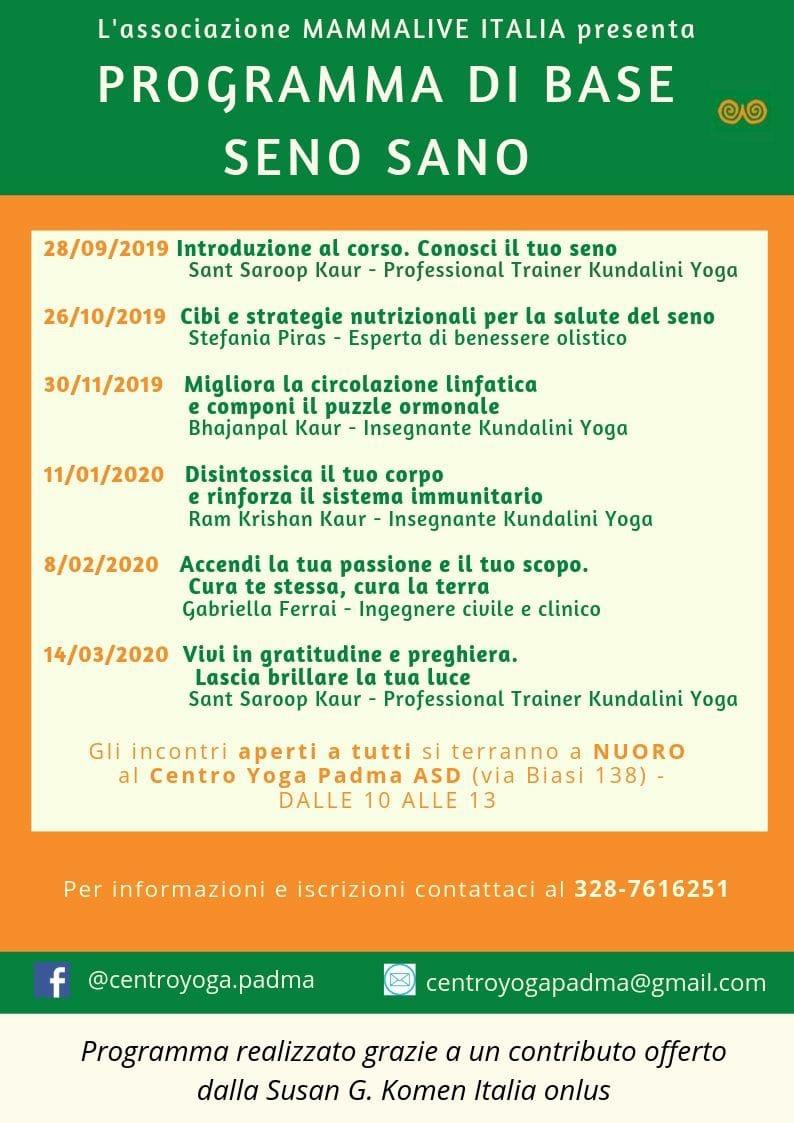 Programma Seno Sano CYP 2019